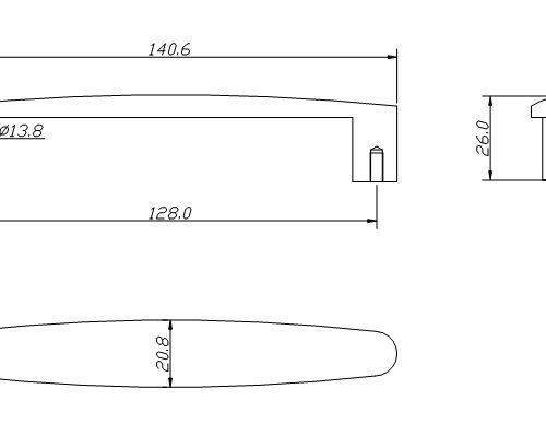 Zinc alloy Pull handle 3